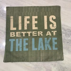 """Life is Better at the Lake Toss Pillow Cover 17"""""""